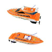 uzaktan kumandalı tekneler toptan satış-Plastik Uzaktan Kumanda Tekne Çocuk Sivrisinek Tekneler Için Alpinia Navigasyon Modeli Çocuk Yüksek Kalite Popüler Yeni Varış 22 ml D1
