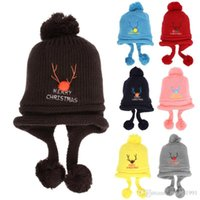 Wholesale spring crochet hats for children for sale - Group buy Crochet Knitted Baby Hat Christmas Baby Ball Caps Knitted Winter Warm Hat Kids Festival Gift Hats For Children Girls Boys