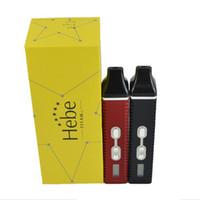 vaporizadores de ervas secas titãs venda por atacado-Hebe Titan 2 ii Vaperizer Erva Seca Vaporizadores E Cigarro Herbal Vaporizador Titan2 Vapor 1 Canetas Vape Kit com 2200mAh Bateria