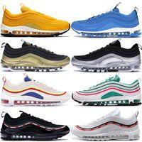 Wholesale lighting for sale - 97 s Running Shoes Men Women South Beach Overbranding Blue Hero Triple Black Bullet Designer Sport Sneakers Trainers