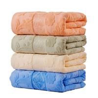 mantas tamaño queen al por mayor-Venta caliente 100% algodón manta Japón estilo adulto completo tamaño floral estampado floral jacquard verano toalla mantas en la cama