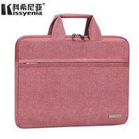 Wholesale laptop bags handles 13 resale online - Kissyenia inch Laptop Briefcase Men Waterproof Formal Business Bag for Computer Capacity Handle Bags Sleeve Bags