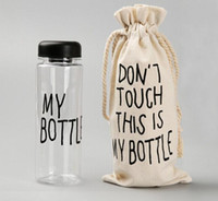 Wholesale drinking water bags for sale - Group buy My Bottle With Sack Bag Fashion Water Bottles Sport Readily Cup ML TRITAN BPA FREE LEAK PROOF