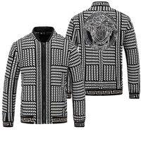 Wholesale fiber slim online – custom 2018 High quality men s camouflage windbreaker jacket Paris designer printed jacket jacket autumn and winter hooded snake windbreaker