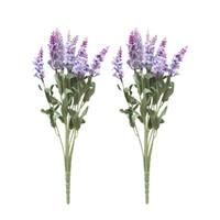 salon de fleurs artificielles achat en gros de-2 pcs Floral Faux Simulation Réaliste Lavif Bouquet De Fleurs Décoratif Artificielle Romantique Plantes pour Salon De Mariage