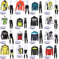 Wholesale mountain bikes jersey pants resale online - SCOTT team custom made Cycling Winter Thermal Fleece jersey bib pants sets Winter Men s Comfort Mountain Bike Sportswear Set S649
