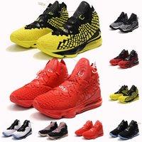 ingrosso pallacanestro lbj-scarpe James Mens Basketball uguaglianza Oreo Lebrons Bred 17 Lebron XVII Battleknit Cesti cuscino Designer LBJ sport della scarpa da tennis degli uomini Formatori