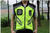 Wholesale motorcycle safety vest reflective resale online - FREE SHIPING NEW MODEL Motorcycle ride reflective vest automobile race neon safety clothes pro biker vest