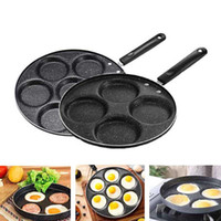 Wholesale pot stick for sale - Group buy 4 hole Frying Pot Thickened Omelet Pan Non stick Egg Pancake Steak Pan Cooking Egg Ham Pans Breakfast Maker