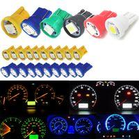 10X Instrument Panel Dashboard 5050 SMD LED Light Bulbs W//PC74 T5 Sockets Yellow