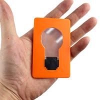 liderliğindeki cep kredi kartı cüzdanı toptan satış-Mini LED Cep Kredi Kartı Cüzdan Ampul Cep Ampul Lamba Noel Hediyesi Çanta Cüzdan Acil Acil Taşınabilir Açık Araçları koymak