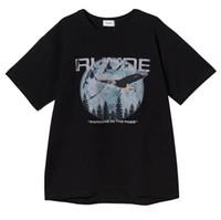 kartal gömlek baskısı toptan satış-19SS T-Shirt Erkek Kadın 1r: 1 RHUDE Chicago Sınırlı Kartal Baskı T Gömlek Yaz Tarzı RHUDE En Tees