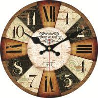 büyük duvar saati sessiz toptan satış-Vintage Ahşap Saatler 16 inç Kısa Tasarım Sessiz Ev Cafe ofis Duvar Dekor Mutfak Duvar Sanatı Büyük Duvar Saatleri için Saatler