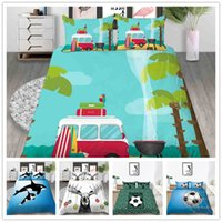 Wholesale 3d bedding set dolphins for sale - Group buy 3D Print Bedding set Football Sport Comforter Cover Single Double King Size with Cartoon Animals dolphin of Bed Cover Suit