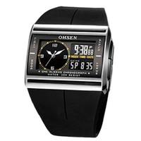 analógico menino relógios venda por atacado-Moda Top Digital Analog LED luminoso Data relógio de pulso do menino dos homens do esporte da faixa de borracha