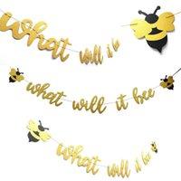 ingrosso bandiere di compleanno trasporto libero-Addio al nubilato Honeybee Birthday Party Flag Pulling Felt Nonwovens Natale San Valentino Decorazione Banner Bandiera Spedizione Gratuita 9 1hn A1
