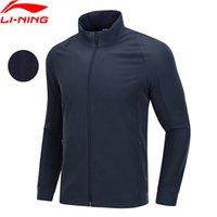 Wholesale li ning jersey for sale - Group buy Li Ning Men Training Series Jacket D Fitting Slim Fit Fleece Warm Polyester Spandex LiNing Sports Coat AJDN165 COND18