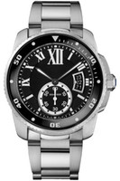 Wholesale cars wristwatches for sale - Group buy Top Mens Sports Watch CAR CALIBRE DE W7100057 Black MM Sapphire Dial Automatic Stainless Steel Strap Mens Luminous Date WristWatch