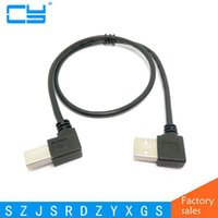 Wholesale computer cables free shipping resale online - 0 M Right Angled USB A Male to Left Angled B Male degree Printer Scanner computer Cable