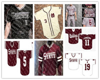 Wholesale baseball jersey 15 resale online - Customized Mississippi State Bulldogs College Baseball Jerseys Stitched White Red Black Any Number Name Jake Mangum Rowdey Jersey S XL