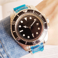 Wholesale movement rings resale online - Sea Automatic Movement mm Dweller Men watch Black Dial Ring Lock Clasp Stainless Band Stainless male watch Monor Hemmo