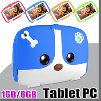 Wholesale kids tablet online - 2019 Kids Brand Tablet PC quot inch Quad Core children Cute cartoon dog tablet Android Allwinner A33 google player GB RAM GB ROM