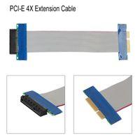 adaptador para elevador al por mayor-Ranura de la cinta del cable PCI-E 4X tarjeta vertical Extender la flexión de la extensión del convertidor del adaptador PCI Express 4X Cable conector Nueva Promoción