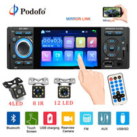 Car Radio 1din Jsd-3001 Autoradio 4 Inch Touch Screen Audio Mirror Link Stereo Bluetooth Rear View Camera Usb Aux Player
