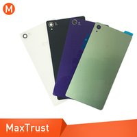 Wholesale xperia battery cover online – custom 10PCS Top Quality For Sony Xperia Z3 L55T D6603 D6643 D6653 D6633 Battery Cover Back Door Rear Housing Cover Case With Adhesive