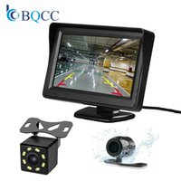 Wholesale 4.3 inch lcd tft car resale online - 4 Inch HD Color Digital TFT LCD Car Monitor Reverse Camera Parking System For Rear View Camera