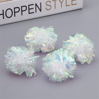 handgemachte haustierprodukte großhandel-Bonbonfarbene Papierkugeln Pet Produkte Kristallkugel DIY Handgemachte Kleine Katze Hund Kauen Spielzeug 0 8zk Ww