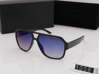 sunglasse azul al por mayor-Nuevo diseñador de moda caliente sunglasse marco cuadrado simple estilo generoso calidad superior uv400 gafas de protección de color negro azul con la caja