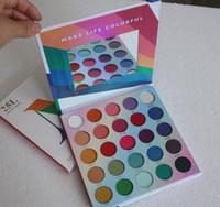 Wholesale colorful palette resale online - Pressed Powder Eye Shadow Palette Makeup L Live In Color Matte Eyeshadow Palettes Make Life Colorful Colors Matte Shimmer Eye shadows
