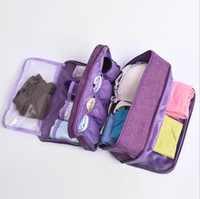 Wholesale pouch socks resale online - Portable Bra Underwear Storage Bag Waterproof Travel Socks Cosmetics Drawer Organizer Wardrobe Closet Clothes Pouch Accessories Top Quality