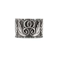 anillos de plata de ley para niños al por mayor-Plata de ley 925 letras tridimensionales y alas de ángel con niños y niñas anillo anillo con patrón de hojas