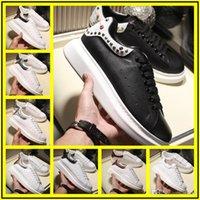 zapatos de vestir de satén negro al por mayor-Nuevo para mujer para hombre de cuero blanco de lujo transpirable confort zapatos de vestir casuales dama negro rosa oro mujer zapatillas blancas