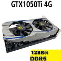 tarjetas gráficas de escritorio al por mayor-Nueva tarjeta gráfica independiente GTX1050Ti 4G DDR5 desktop hd juegos para PC