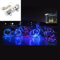 döngü dümen ışıkları toptan satış-20 LED Bisiklet Dağ Bisikleti Göz Kamaştırıcı Işıklar Bisiklet Tekerlek Lambası Bisiklet Aksesuarları Konuştu Led Bisiklet Işıkları LJJZ748