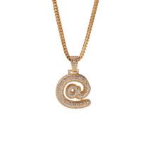 Wholesale sliding bails jewelry for sale - Group buy NEW Bail Drip Bubble US Dollar Symbol Chain Necklaces Pendant For Men Women Gold Color Cubic Zircon Hip Hop Jewelry