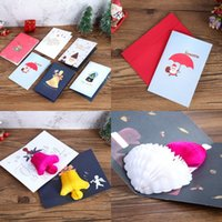 Wholesale pop up card for sale - Group buy Pop Up Xmas Greeting Card Cartoon Christmas Invitation Card Christmas New Year Baby Gifts Greeting Cards