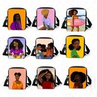 Wholesale animal handbags for children for sale - Group buy African Girls Pattern Messenger Bag for Women Men Cross Body Bag Fanny Packs Children Shoulder Bag Tote Outdoor Designer Handbags D8510