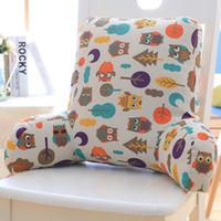 araba koltuğu bel yastığı toptan satış-Sandalye Minderi Ofis Araba Koltuğu Bel Yastık Kanepe Yastık Yastık Arkalığı Bilgisayar Cojines Decorativos Para Sandalye Emoji 60KD003