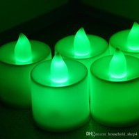Wholesale candle shape lamp resale online - colourful Flameless Candles Pillar LED Candle Lamp Yellow Wave Shape LED Candles For Party Christmas Decoration