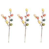 stylish homes decor 2021 - 3 6 Branches Easter Egg Decorations Stylish Flower Arrangement Decor Easter Egg Tree Decor Branch Adornment for Home Living Room