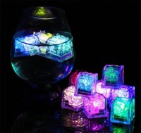 Wholesale multicolor light cubes for sale - Group buy LED Ice Cubes Multicolor Flashing Submersible LED Light Up Ice Cubes Rocks for Bar Club Wedding Party Gift Event Champagne Tower Decoration