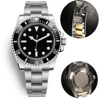 fivela de relógio de aço venda por atacado-luxo mens cerâmica mecânicos automáticos relógios 40 milímetros full Gliding aço inoxidável fivela relógios de pulso Swim safira relógio super-luminosa