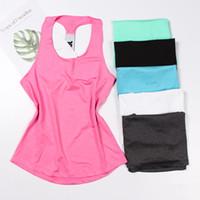 chemises professionnelles de fitness achat en gros de-Haut de yoga professionnel Gilet sans manches Sport Shirt Femme Running Gym Shirt Femmes Maillots Sport Fitness Yoga Shirt Débardeur