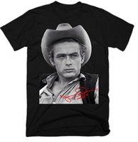 seksi erkekler tişörtleri toptan satış-Man 020509 için James Dean Erkekler'S Komik Tshirts Streetwear Harajuku T Gömlek Seksi Kız Tee Gömlek Kısa Kollu Tişört Tops