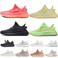 ingrosso grandi scarpe da corsa-Big Size 36-48 Antlia Pink Static Reflective V2 Scarpe da corsa da uomo True Form Clay Kanye West Women Sneakers sportive Scarpe da ginnastica firmate Shoe 5-13