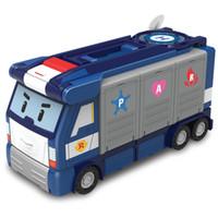 Wholesale remote police cars resale online - Silverlit POLI Mobile HQ Deformation Police Car Rescue Team Children s toys Anime Action Figure pc LJJO7186